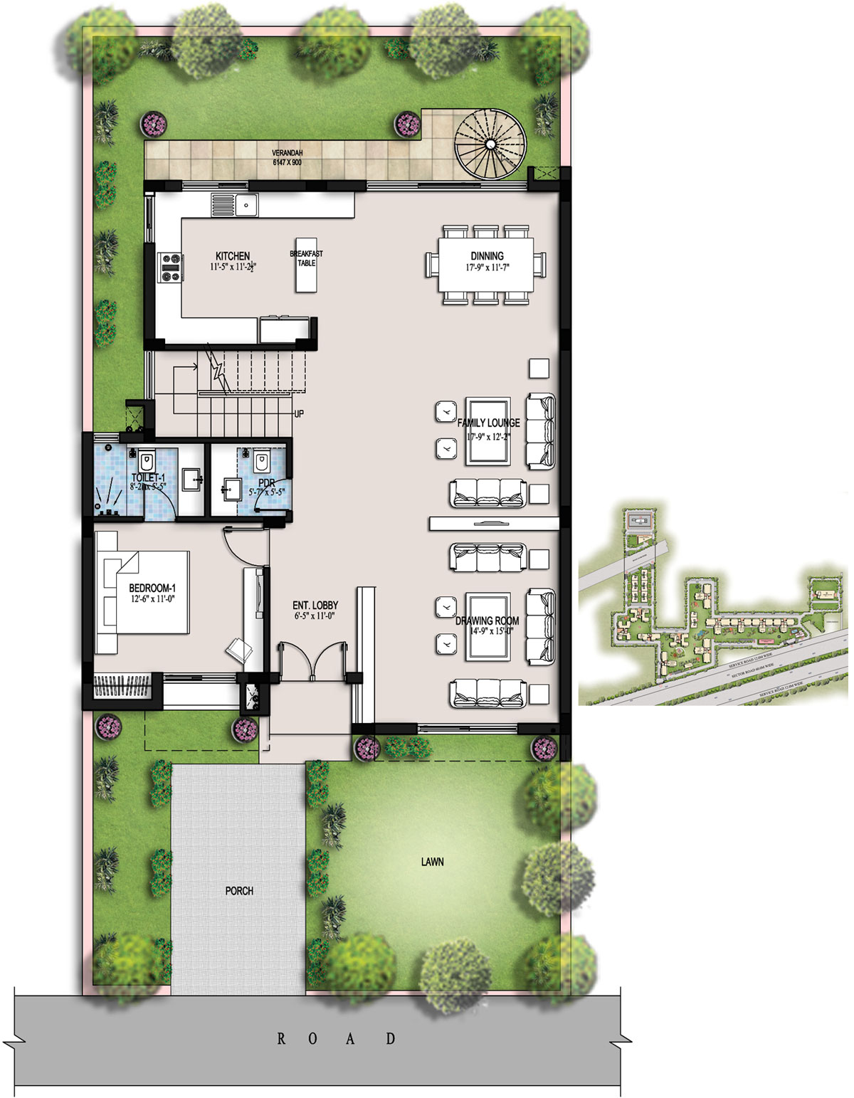 Ansal housing for Residential building floor plan