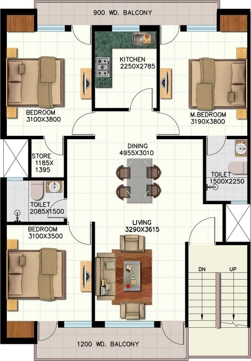 Ansal housing for 1400 sq ft floor plans