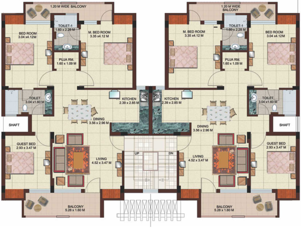 Ground floor plan of residential building Residential building plans